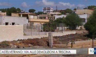 Demolizioni a Triscina. Nuovo servizio al TGR