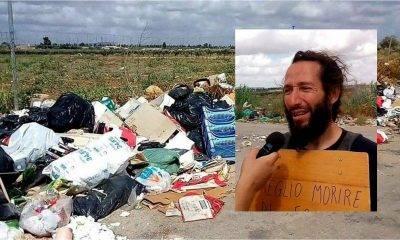 Castelvetrano, uomo con la strada invasa dai rifiuti comincia lo sciopero della fame...