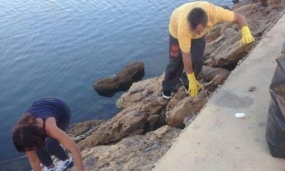 Volontari a Selinunte. Ripulito il molo