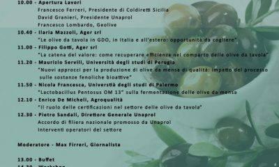 La Filiera delle olive da tavola tra produzione e mercato in un convegno al Selinus