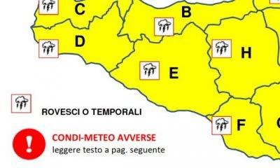 Protezione Civile: 1 dicembre, condizioni meteo avverse