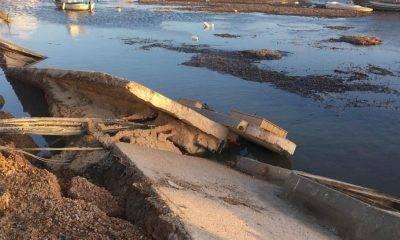 Selinunte, crolla la banchina del porto