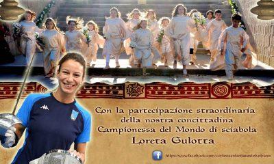 """La campionessa del mondo castelvetranese Loreta Gulotta """"Dama delle rose"""" al Corteo storicdi santa Rita"""