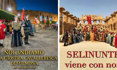 Giostra Cavalleresca di Sulmona, tribuna d'onore per il Corteo Storico di Santa Rita e la Nobiltà Castelvetranese