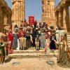 """Tanti i turisti affascinati dal """"flash mob"""" al Parco Archeologico di Selinunte organizzato dal Corteo Storico di Santa Rita"""
