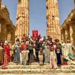 """Tanti i turisti affascinati dal """"flash mob"""" al Parco Archeologico di Selinunte organizzato dal Corteo Storico di Santa Rita 4"""