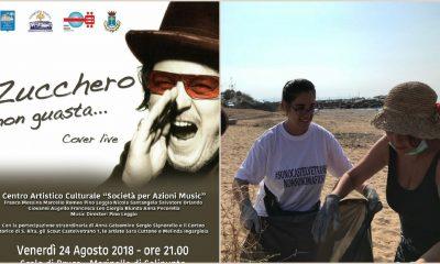 """Selinunte: Volontari """"Orgoglio Castelvetranese"""" ripuliscono la spiaggia. Venerdì sera lo spettacolo """"Zucchero non guasta"""""""