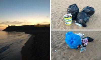 Selinunte, volontari ripuliscono la spiaggia dell'Acropoli dai rifiuti di Ferragosto