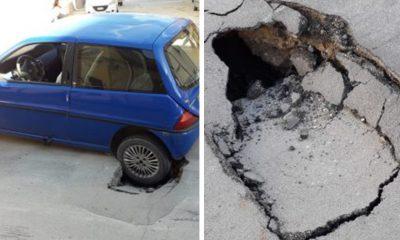 Cede l'asfalto, paura per una donna a Castelvetrano 1