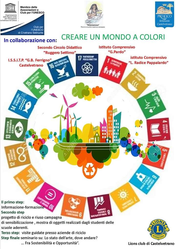 """Anche a Castelvetrano, il progetto """"Un mondo a Colori"""" del Club per l'UNESCO"""