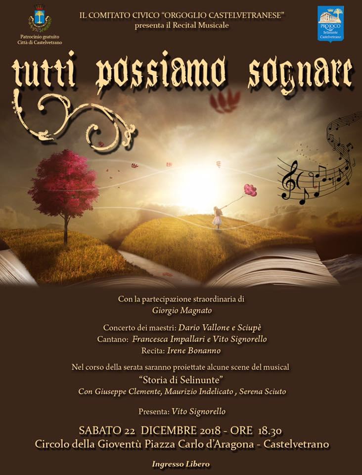 Musical, Sweet sweet city e cuntui di natale si chiude in bellezza il programma di Orgoglio Castelvetranese 2