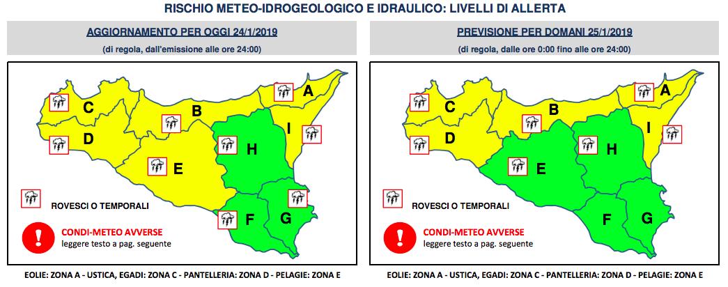 Allerta Meteo Protezione Civile Sicilia 1