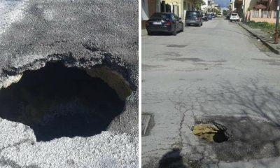 Castelvetrano, nuova buca pericolosa in via XX Settembre 1