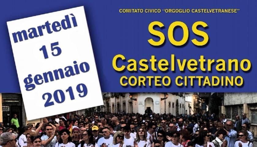 """""""SOS Castelvetrano"""" corteo cittadino, il 15 Gennaio tutti uniti per la sua rinascita"""