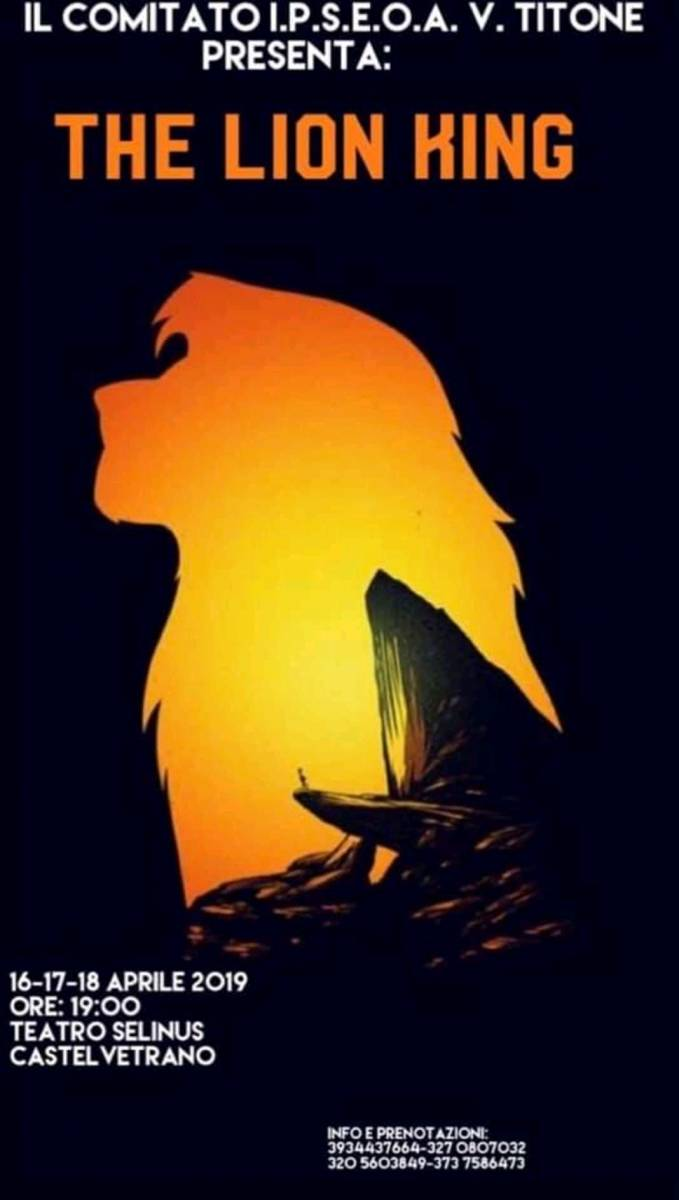 """The Lion King"" in scena al Teatro Selinus di Castelvetrano"