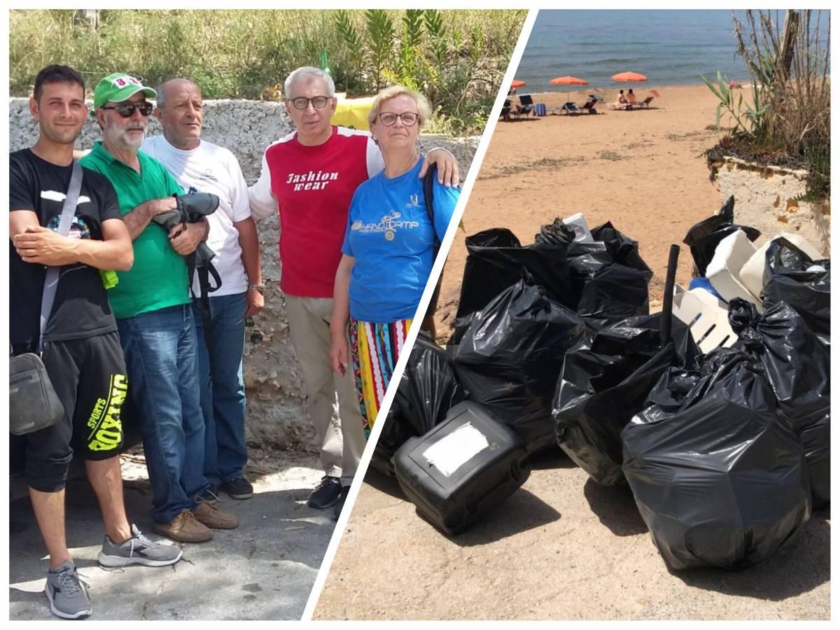 Legambiente Marinella di Selinunte Spiagge e fondali puliti 2019 Triscina