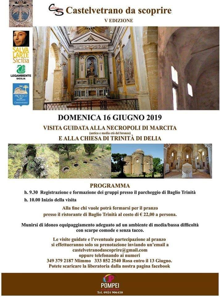 """""""Castelvetrano da scoprire"""": Domenica 16 Giugno visita guidata alla chiesa SS.trinità di Delia e Necropoli di Marcita"""