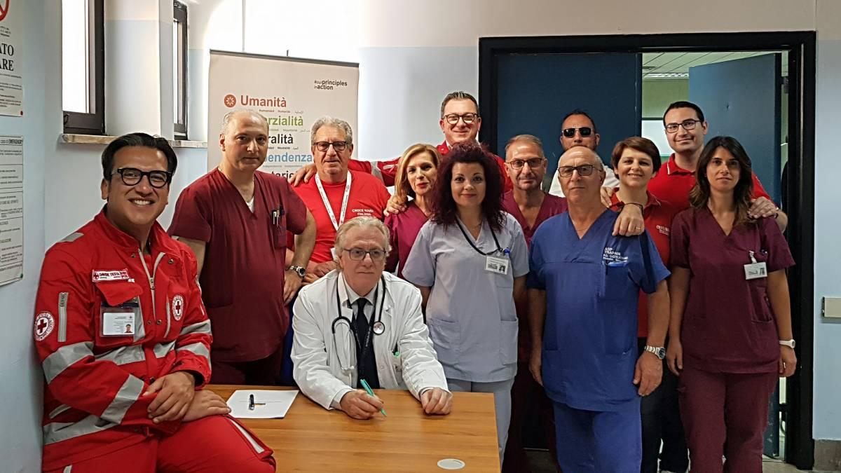 I volontari della Croce Rossa da oggi presenti nel Pronto Soccorso di Castelvetrano