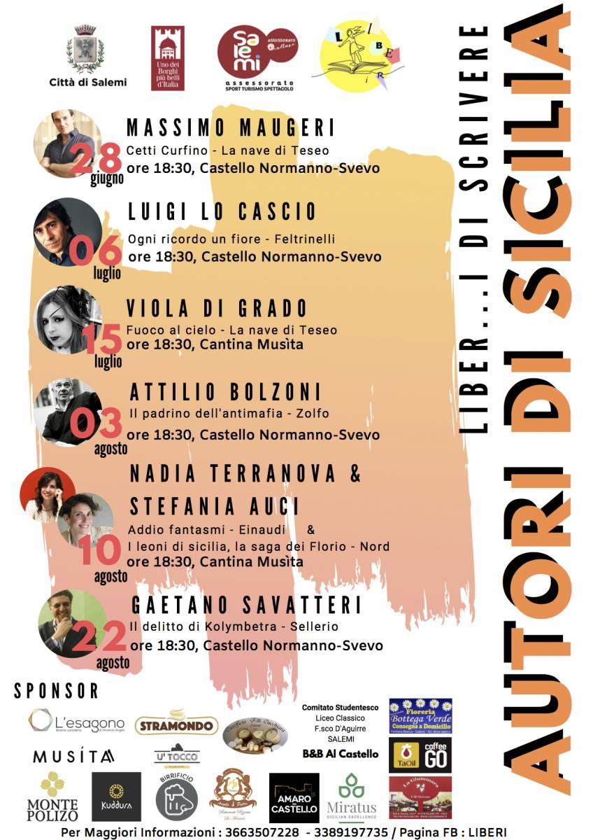 """Salemi: quarto appuntamento per """"Liber...i di scrivere. Autori di Sicilia"""" 1"""