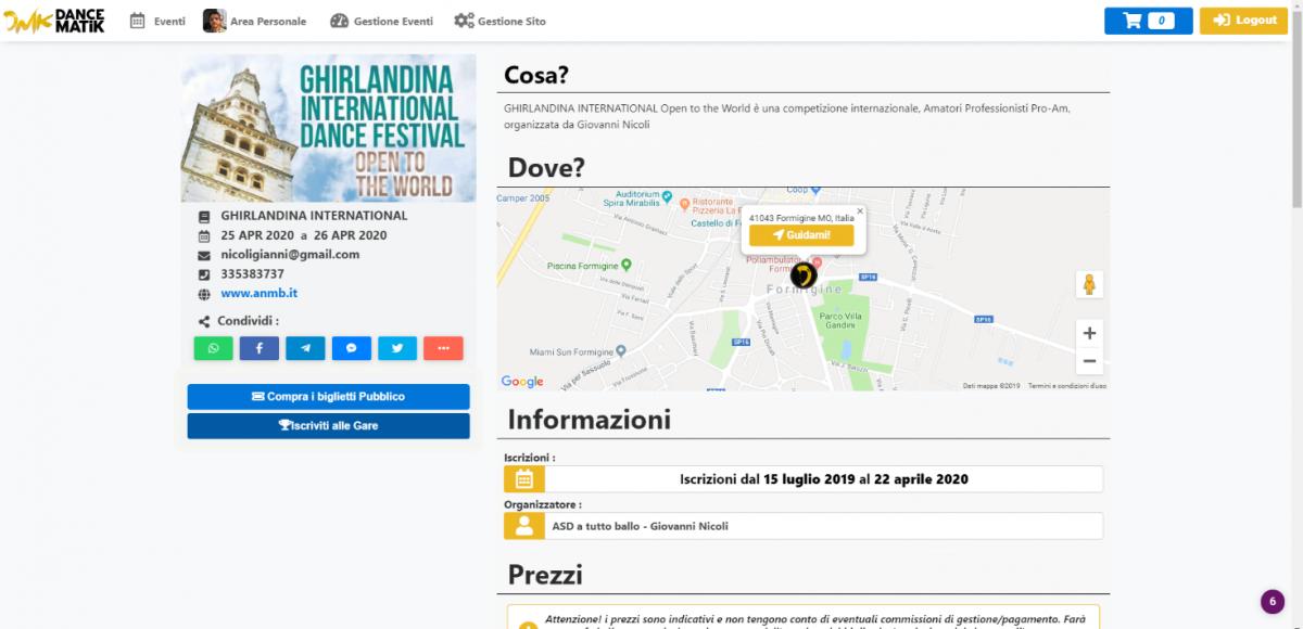 Dancematik.it - Applicazione per la gestione di eventi realizzata dal castelvetranese Riccardo Cassano