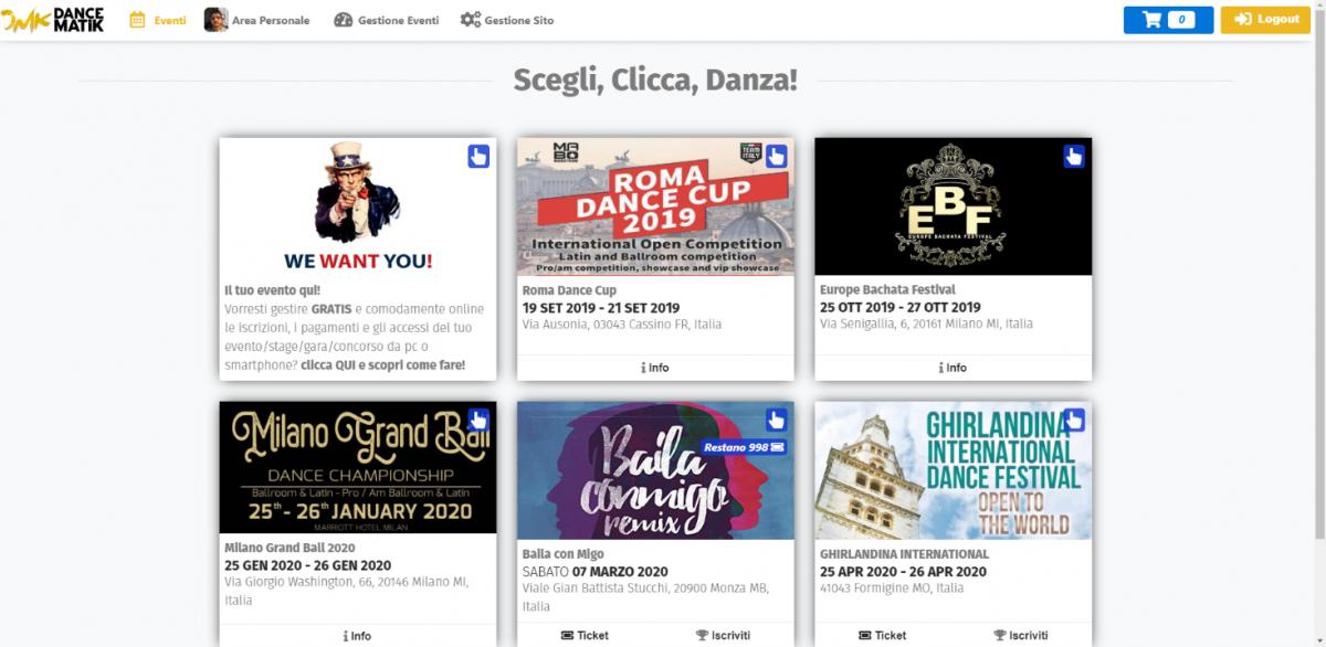 Dancematik.it - Applicazione per la gestione di eventi realizzata dal castelvetranese Riccardo Cassano 2