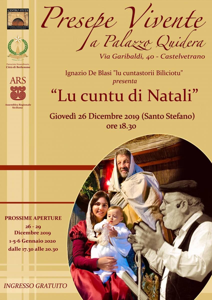 Castelvetrano Natale 2019 Natale a Castelvetrano Palazzo Quidera Presepe vivente