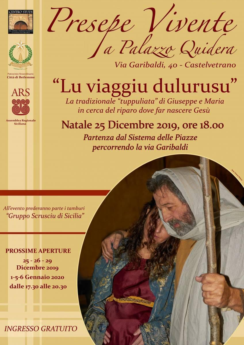 Castelvetrano, Il Presepe di Palazzo Quidera aperto anche il girono di Natale