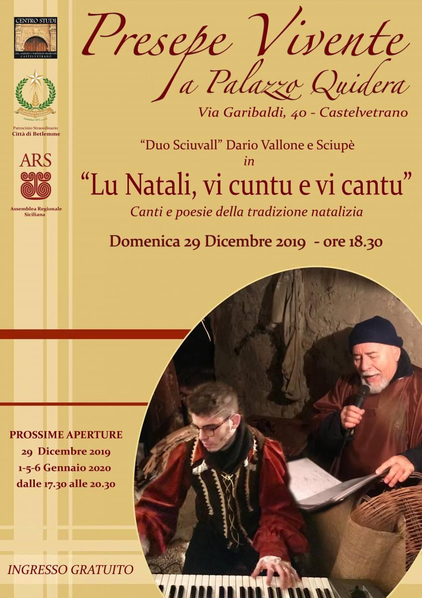 Castelvetrano Natale 2019 Natale a Castelvetrano Palazzo Quidera Presepe vivente 1